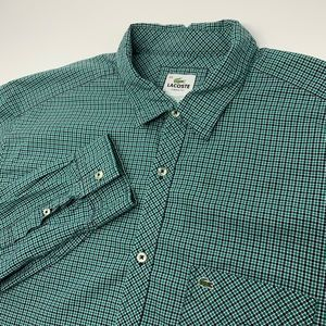 Lacoste Classic Fit Long Sleeve Plaid Shirt